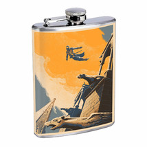 Leap of Faith Em1 Flask 8oz Stainless Steel Hip Drinking Whiskey - $13.81