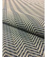 "40"" x 53"" Herman Miller True Herringbone Denim Blue Upholstery Fabric 22406 - $31.83"