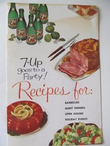 1961 7 Up Soda/Soft Drink Advertising Party Recipes Booklet - $4.94