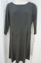 Anne Klein Dress Sz 10 Heather Grey A Line Viscose Jersey Casual Busines... - $59.35