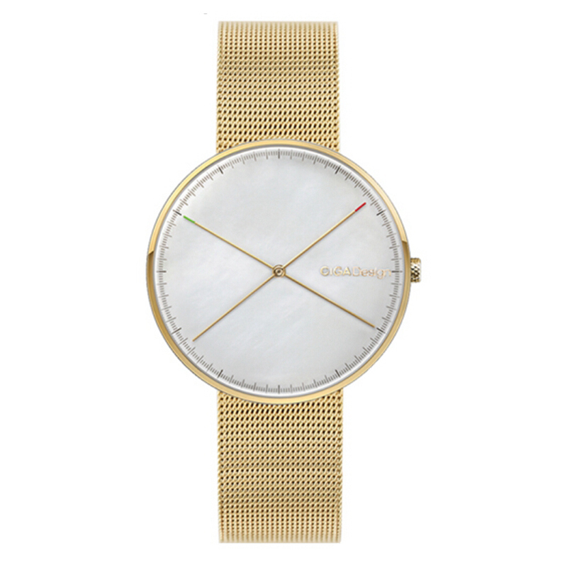 XIAOMI CIGA Design D009-1A X Series Women Wrist Watch Golden Case Reddot Award Q