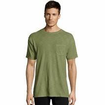 Hanes Men's 1901 Heritage Dyed Short Sleeve Crewneck Pocket T-Shirt - 10... - $15.19