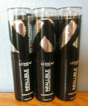 Lot of 3- L'oreal Infallible Longwear Shaping Stick Highlighter 42 Gold Is Cold - $12.59