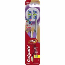 Colgate 360, 4 Zone Soft Toothbrush, 2 count - $10.87