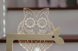 Mooas USB Wired Acryl LED Owl Night Mood Lights Lighting Lamp Indoor Interior image 6