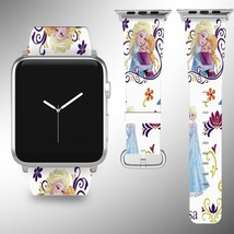 Frozen Disney Apple Watch Band 38 40 42 44 mm Fabric Leather Strap 01 - $29.97