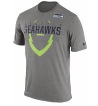 Mens Nike NFL Grey Dri-Fit Seattle Seahawks Football Legend Icon T-Shirt - $24.99