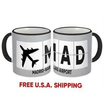 Spain Madrid-Barajas Airport Madrid MAD : Mug Airline Travel Gift Pilot ... - $13.37+