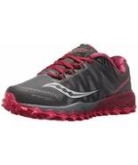 Saucony Peregrine 7 Women's Running Shoe Grey/Berry, Size 8.5 M - $59.39