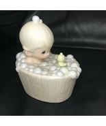 Precious Moments A Tub of Love 112313 Baby Boy in Tub Rubby Duck Figurine - $39.99