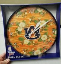 "NEW University Auburn UA Wincraft 12"" CLOCK Orange Flowers College Dorm Tigers - $14.54"