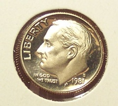 1981-S Deep Cameo Proof Roosevelt Dime Typ 1 #01101 - $4.99
