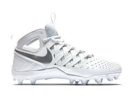 Nike Huarache V LAX White/Metallic Silver Lacrosse Football Cleats 80714... - $54.95