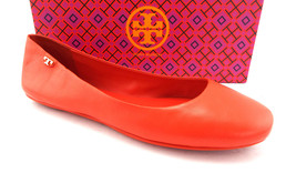 New TORY BURCH Size 11 MINNIE TRAVEL Poppy Red Ballet Flats Shoes - $174.00