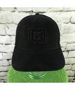 [K] Mens One Sz Hat Black Fitted Flexfit Wool Blend Pro Back Baseball Ca... - $14.84