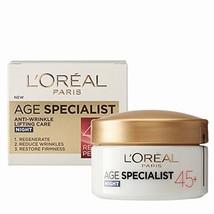 L'oreal Age Specialist 45+ Anti-Wrinkle Nourishing Night Cream 50 Ml - $15.87