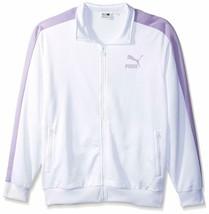 New Puma Men's Archive T7 Track Jacket White Purple Rose Violet Large L Xl - $69.99