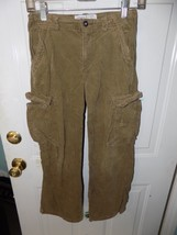 The Children's Place Brown Corduroy Carpenter Pants Size 10 Boy's Euc - $16.60