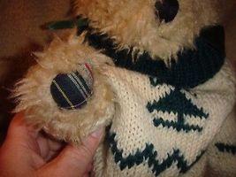 Boyds Bears Large Shaggy Bear With Plaid Paws image 5