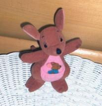 """Winnie Pooh Kanga Roo Mom & Baby Plush 6"""" Mattel Happy Little Pair - $5.69"""