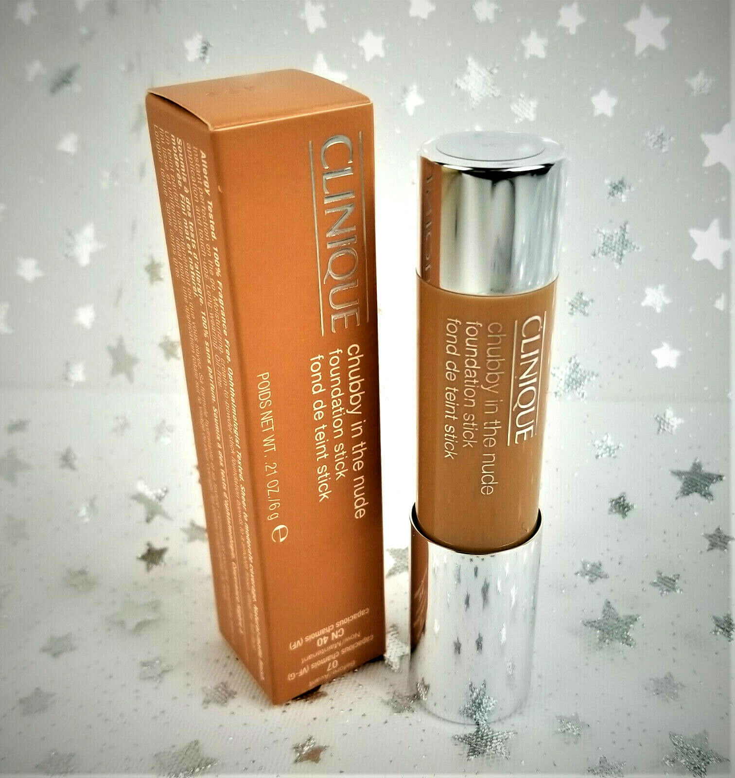 Primary image for CLINIQUE chubby in the nude foundation stick CN 40 / 07 - NEW in Box .21 oz / 6g