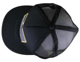 Dissizit! Black Mesh American Cross Bones Flag Trucker Baseball Hat image 6