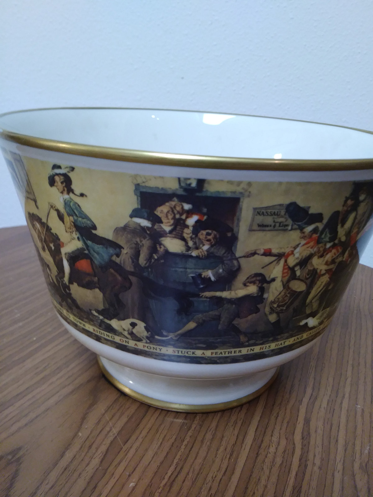 "Norman Rockwell ""Yankee Doodle"" Bowl by Gorham Fine China 1976 Limited Edition #"