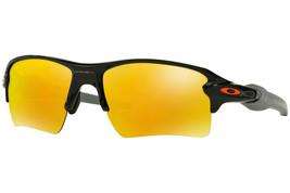 Oakley Flak 2.0 Sunglasses OO9188-22 Polished Black Frame W/ Fire Iridium Lens  - $118.79