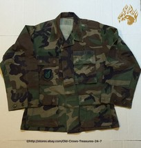US Air Force Woodland Camo Shirt Patches Size Small X-Short - $8.42