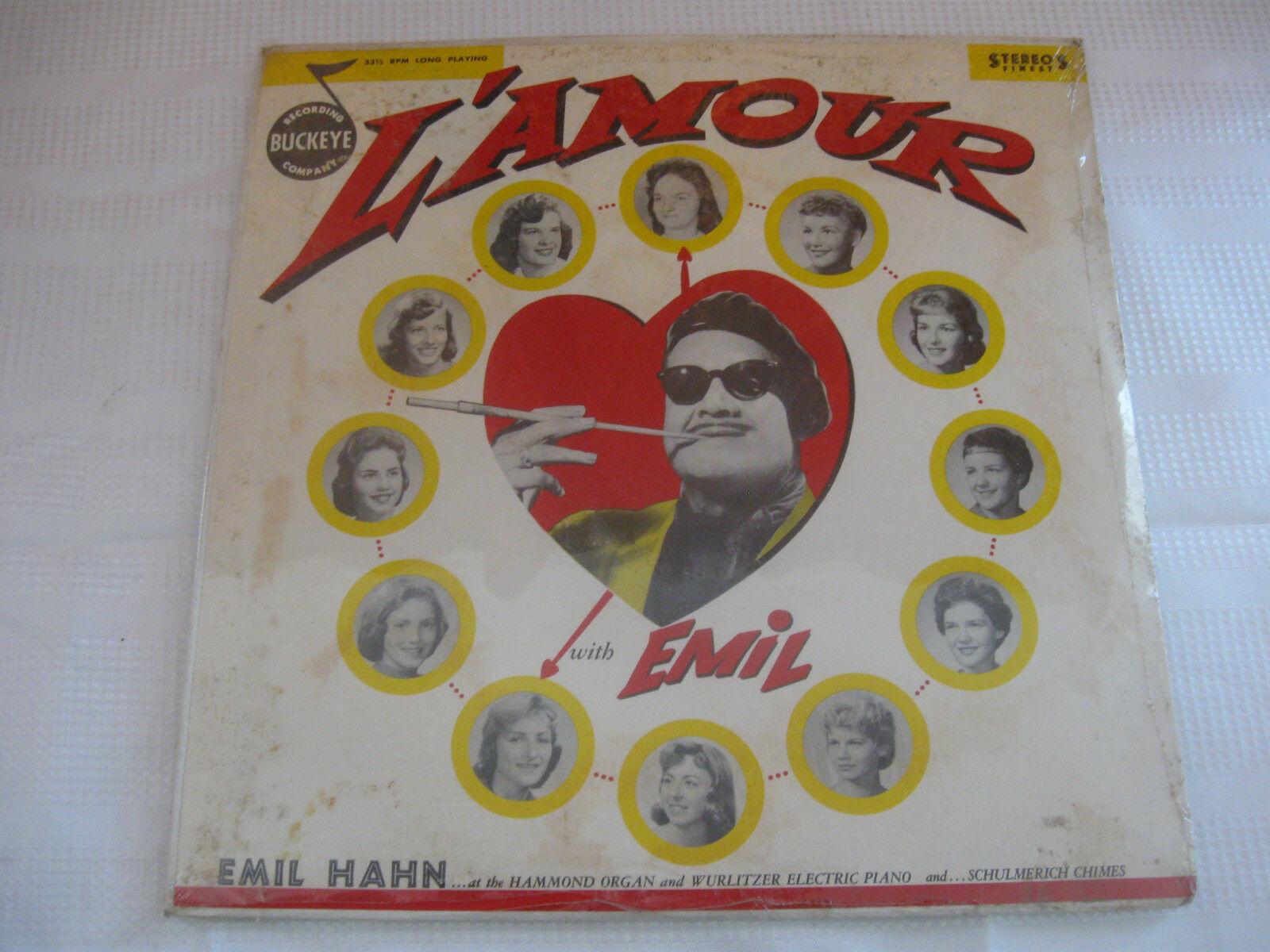 Emil Hahn L'Amour RARE Buckeye L1560 B2 Stereo SEALED Vinyl Record LP Cornball
