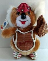 Vtg Braves Twins Koala Plush Toy Catchers Mitt Mask Tag Baseball Souveni... - $35.99