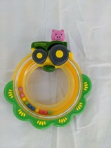 "John Deere Pig Tractor Rattle Ring Toy 5"" Tomy - $6.95"