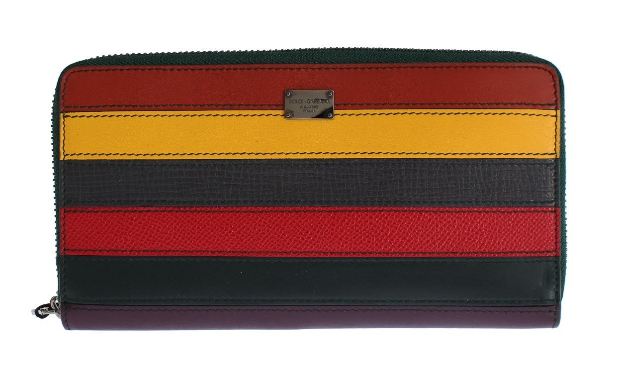 Multicolor Leather Continental Wallet
