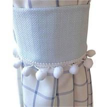 Set of 2 [Blue]Cute Small Pompon Decorative Curtain Tiebacks/Buckles(14.5 3.5'')