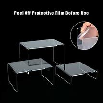 Huaxiangoh 6PCS Clear Acrylic Risers for Display,Home Decor Jewelry Display Rise image 4