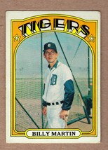 1972 Topps #33 Billy Martin flipping the bird Detroit Tigers EX-NM cond. - $10.89