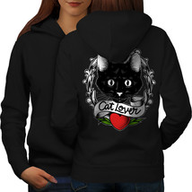 Cat Lover Sweatshirt Hoody Kitty Animal Women Hoodie Back - $21.99+
