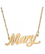 AOLO Gold Plated Delicate Word Designed Necklace, Mary - $25.38