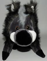 "Yes Club Warthog Plush 9"" Stuffed Animal Toy Black Gray - $27.67"