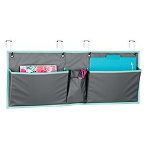 mDesign Fabric Wide Large Over The Cubical Wall Mounting Hanging File Folder Not image 5