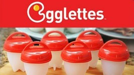 Egglettes Egg Cooker - Hard Boiled Eggs without the Shell - £11.72 GBP