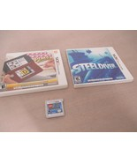 Lot of 3 Nintendo 3DS Steeldiver, Lego City Undercover Chase, Crosswords... - $19.99