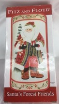 Fitz and Floyd Santa's Forest Friends elongated tray New In Box - $21.19