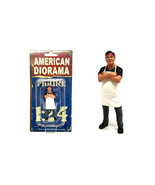 Food Truck Chef Victor Figure for 1/24 Scale Models by American Diorama - $15.82