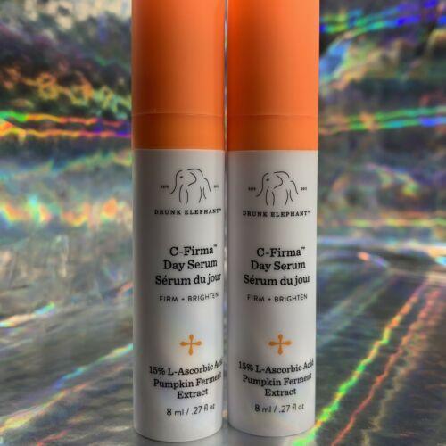 2x  Elephant C Firma Day Serum 8mL 10% Super Potent L-Ascorbic Acid Over 15mL