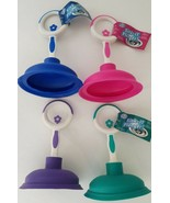 Sink Plungers 6 Inches Tall Space Saving, Select: Blue, Pink, Purple or Turquois - $2.99