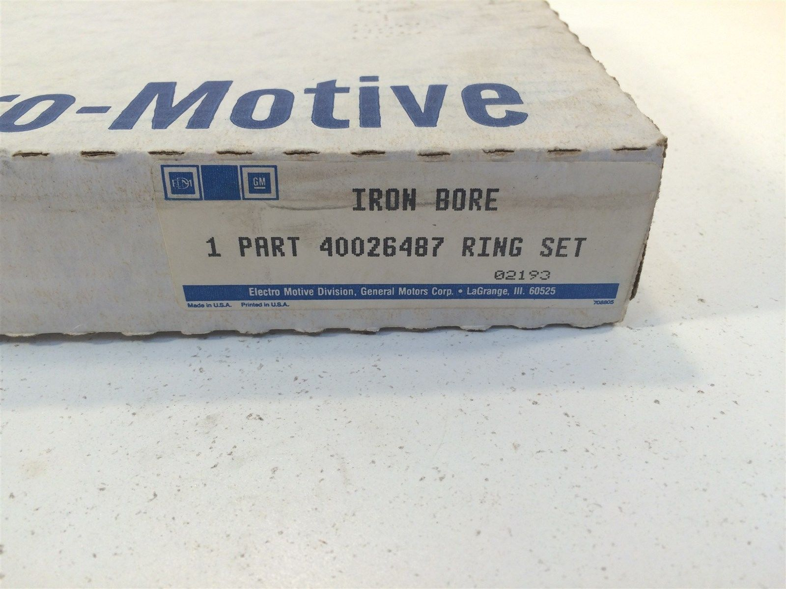 GM General Motors Electro Motive OEM Iron Bore Ring Set 40026487 Made in USA image 11