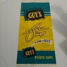 "Vintage GUY'S Potato Chip Bag Unused ""Be Wise Buy Guy's"" NOS - $28.98"