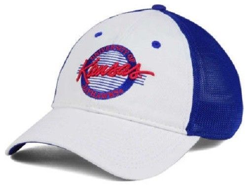 "Kansas Jayhawks NCAA ""Circle"" A-Flex Stretch Fitted Hat"