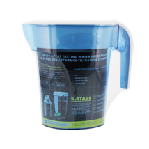 ZeroWater ZP-006 6-Cup Space Saver Water Filtration Pitcher (Blue/White) - $33.99